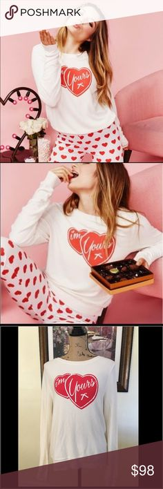 """Wildfox """"I'm Yours"""" Cream and Red BBJ ❤️ Wildfox """"I'm Yours"""" Cream and Red BBJ ❤️.  New with tags.  Beautiful, soft and comfortable sweater. Wildfox Sweaters Crew & Scoop Necks"""