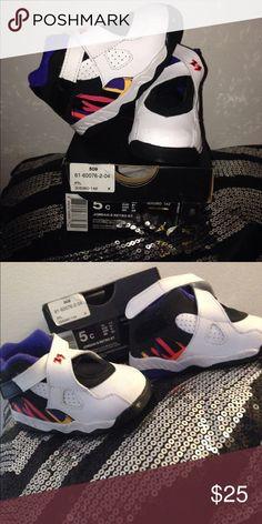 Toddler Jordan retro 8 Worn once. Very clean! Jordan Shoes Sneakers