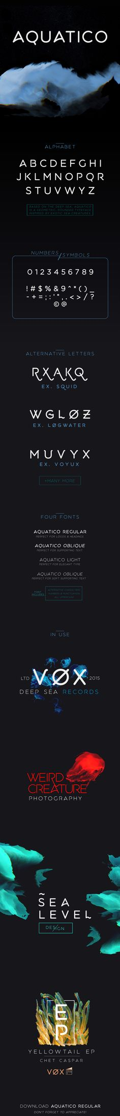 Aquatico - Free Typeface on Behance