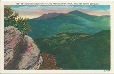 POSTCARDS - Linen - Grandfather Mountain, North Carolina