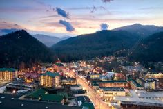 Gatlinburg, Tennessee this place is MUST see spot for ANYONE who comes to tennessee. seriously coolest town ever!