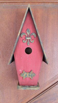 casinha de passarinho com pintura rustica