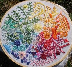 15 different freehand embroidery stitches