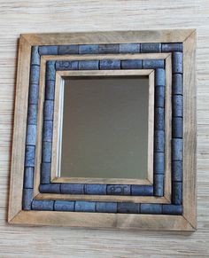 Mirror with Wine Cork Frame recycled mirror by TheWoodenBee, $42.00