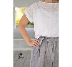Styling und Nähideen für Blusenshirt Bloom - Schnittduett Elegantes Outfit, One Shoulder, Bloom, Shirts, Tops, Women, Fashion, Linen Fabric, Outfit Ideas