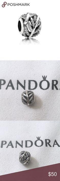 Pandora Light as a Feather Charm Sterling silver Authentic Pandora charm. Pandora light as a feather charm with clear CZ hand set to look like a feather. Stamped with S925 Ale between the ridges of the feathers as shown in the last photo.   Bundle to save!  *Price includes the Charm only, does not include the cloth. Box sold separately as I did not keep many*  #Pandora Charm, Pandora Sterling silver charm, Pandora feather charm, Pandora angel charm, Pandora sparkly charm, Pandora CZ charm…