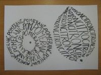 Ovoce tvořené písmem ::       M o j e       v ý t v a r k a