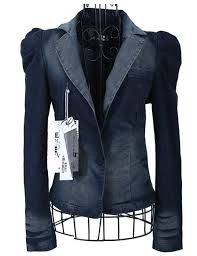 fitted jean jackets for women Denim Fashion, Fashion Outfits, Blazer With Jeans, Denim Jeans, Glam Dresses, Jacket Style, Western Wear, Jackets For Women, Leather Jacket