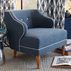 Captain's Chair - Contrast Trim #westelm $637 28w x 33d x 29h