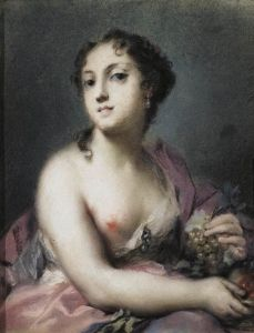 Rosalba Carriera, Autumn, pastel on grey paper pasted on cardboard, 24 x 19 cm (The Hermitage, St. Female Portrait, Female Art, Renaissance, Classic Paintings, Italian Painters, Portraits, Art Database, Italian Art, Beauty Art