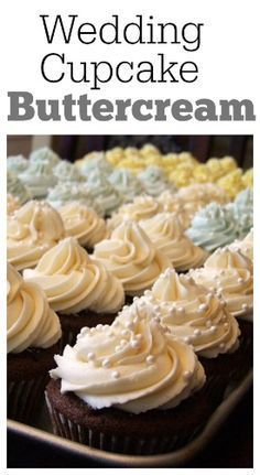 Wedding Cupcake Buttercream: a buttercream frosting recipe that is perfect for cupcakes and cakes. It pipes beautifully!