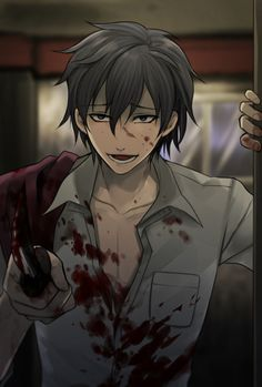 """Run rabbit run."" Corpse Party -- So I watched Cryaotic play a walkthrough of this. And there's an anime that ends differently. I wanna watch the anime so bad! Male Yandere, Animes Yandere, Yandere Manga, Manga Anime, Yandere Girl, Tsundere, Corpse Party, Yandere Simulator, Anime People"