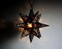 Quiet And Rustic By Darcy On Etsy Moravian Star Light Tin Pendant