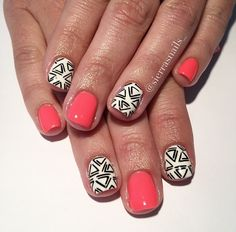 Ideas Makeup Ideas For Kids Girls Make Up Nail Polish Fancy Nails, Love Nails, How To Do Nails, Pretty Nails, My Nails, Nail Polish Designs, Nail Designs, Nail Time, Manicure Y Pedicure