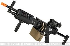 Knight's Armament Airsoft (KAA) Full Metal Licensed KAC Stoner 96 LMG AEG Light Machine Gun