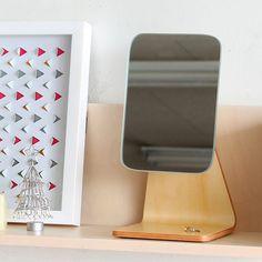 鏡ミラー卓上ミラー角度スタンドミラーメイクミラー卓上スタンドミニミラー姿見デスクミラー化粧メイクメイクアップ角度調節おしゃれオシャレかわいい北欧モダンシンプルギフトプレゼント贈り物リビング寝室mitPWスタンドミラーナチュラル