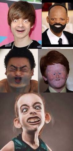 Top 20 funny faces in the history!! #hard not to laugh
