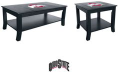 [[start tab]] Description Show your team spirit with this beautiful Ohio State University Buckeyes Table Set. This includes the Coffee and Side Tables. They are made from select hardwoods with a full
