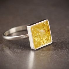 baltic amber and recycled silver ring from blue hour designs on etsy. $53.00
