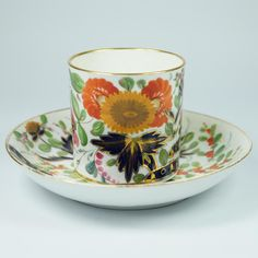 Antique Coalport Porcelain Coffee Can And Saucer Thumb And Finger from trinityantiques on Ruby Lane