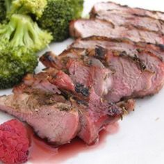 Pork Chops with Raspberry Sauce