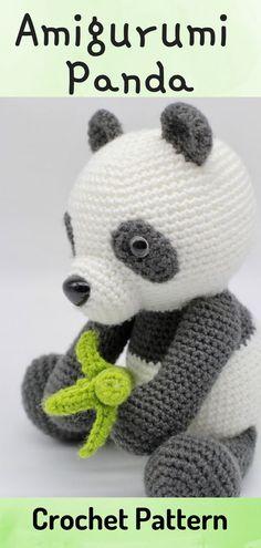 Panda Plush Stuffed Animal   Stuffed Animals & Plushies   Crochet ...   495x236