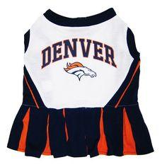 Denver BRONCOS  NFL dog Cheerleader Dress