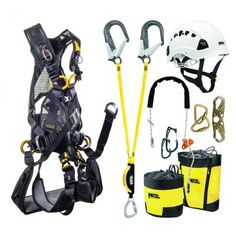 The Petzl Tower Climbing Kit Includes everything you need for tower applications. Tree Felling, Safety Posters, Rappelling, Family Matters, Search And Rescue, Outdoor Gear, Climbing, Gears, Tower