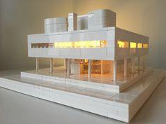 Villa Savoye, Lego Architecture, Lego Architecture Studio, Harm Bron, Amsterdam, BrickLed Lego Space Station, Architecture Models, Legos, Amsterdam, Building, House, Arquitetura, Studio, Lego