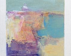 2017 - Original Abstract Oil Painting - painting x 9 cm - app. 4 x 4 inch) with 8 x 10 inch mat Oil Painting Abstract, Abstract Watercolor, Abstract Canvas, Landscape Art, Painting Inspiration, Modern Art, Art Projects, July 1, Artwork