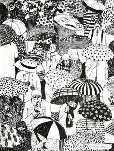 40 Creative Doodle Art Ideas to Practice in Free Time Art Inspo, Kunst Inspo, Inspiration Art, Art And Illustration, Portrait Illustration, Art Du Croquis, Doodles Zentangles, Cool Drawings, Ink Pen Drawings