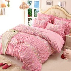 Pretty Shabby Chic 4 PC High Quality 100% Cotton Bedding Sets Various Styles To Choose From