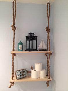Rope Shelf by KnockOnWoodCustoms on Etsy https://www.etsy.com/listing/189444488/rope-shelf