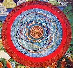 Orbital Confusion Tibetan Mandala, Tibetan Art, Complex Art, Celestial Sphere, Yoga Art, Traditional Paintings, Tantra, Archetypes, Chicago Cubs Logo