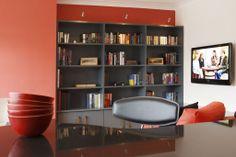 Penthouse - Milltown | RK Designs Living Area, Living Room, Penthouse Apartment, Dublin, Shelving, Ireland, Irish, Bookcase, Custom Design