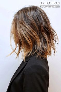 Hair Inspiration: Long Subtle Ombre Bob #sombre #wavy