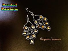Hi jewelry lovers. Today i will add Crystal Beads Earrings to our earring arcive. I think you will like our earrings models page very much. Seed Bead Jewelry, Bead Jewellery, Seed Bead Earrings, Leaf Earrings, Diy Earrings, Earrings Handmade, Handmade Jewellery, Hoop Earrings, Diy Jewelry