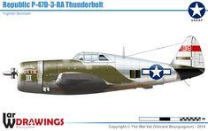 Republic P-47D-3-RA Thunderbolt - Fighter-Bomber