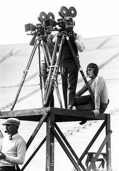 Harold Lloyd on the set of The Freshman (1925)