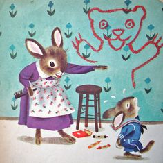 Richard Scarry's The Naughty Bunny. <3