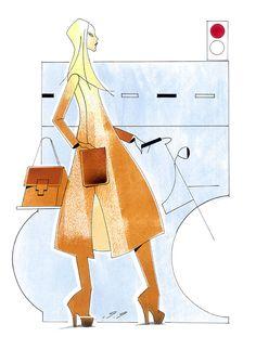 Illustratie voor Elle magazine. (Piet Paris 2010)