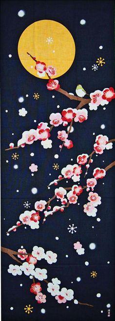 鎌倉香紙堂 / 濱文様の絵てぬぐい 静夜の雪