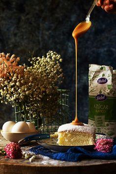 Un bizcocho increíble con 3 ingredientes y la receta del caramelo salado mejor del mundo!