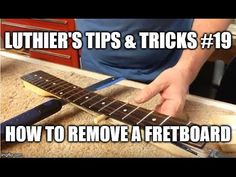 Luthier's Tips & Tricks # 19 - How to remove a fretboard from a twisted neck Guitar Strings, Guitar Pedals, Guitar Chords, Guitar Amp, Custom Acoustic Guitars, Guitar Youtube, Les Paul Guitars, Cigar Box Guitar, Guitar For Beginners