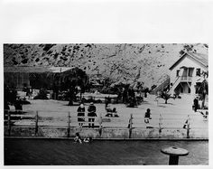 White's Point Hot Springs, San Pedro, California.The Salt water swimming pool.