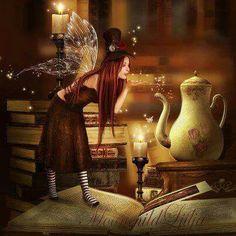Steam Fairy by moonchild-ljilja on deviantART by bernice Fairy Dust, Fairy Land, Fairy Tales, Fantasy World, Fantasy Art, Kobold, Love Fairy, Beautiful Fairies, Magical Creatures
