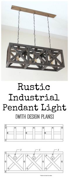 Rustic Industrial Pendant Light - free design plans for this beautiful DIY light…