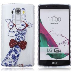 LG G4 Case,DIOS CASE(TM) [Wavy Stripe Antiship Design] Translucent Ultra Slim fit Flexible Soft Thin TPU Rubber Skin Protective Case Cover for LG G4 (Giraffe) >>> This is an Amazon Affiliate link. See this great product.