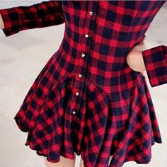 vestido inverno xadrez fino manga longa - frete grátis