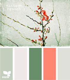This is the color scheme I'm working on for the bathroom. Milky sea glass, calming white, and a hint of pale coral pink.
